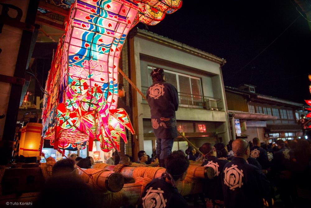 行灯 - 富山県南砺 福野の夜鷹祭り(2013年5月2日)