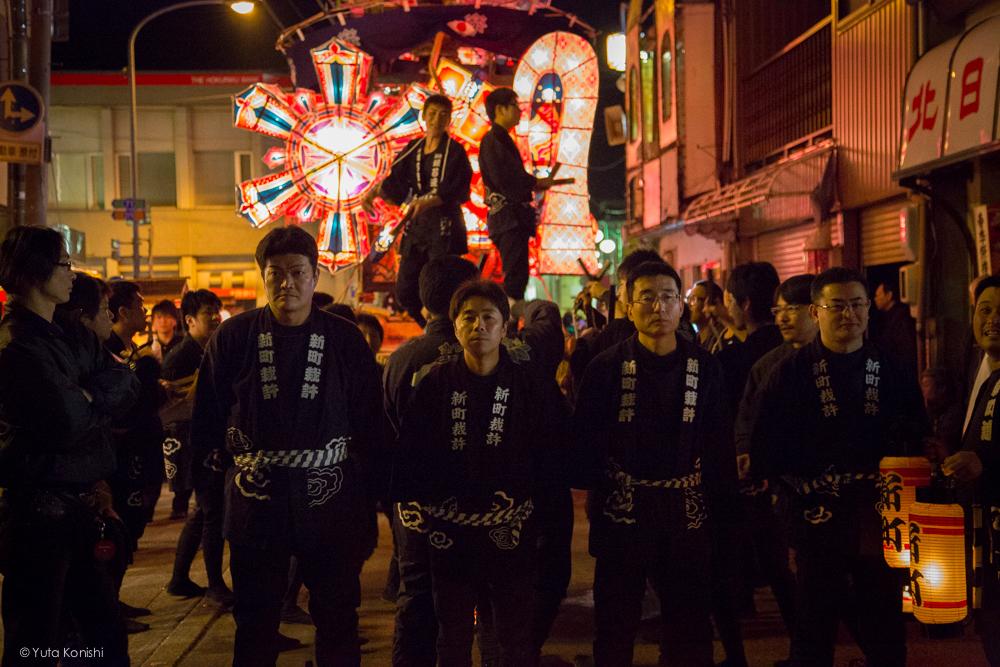 男たち - 富山県南砺 福野の夜鷹祭り(2013年5月2日)