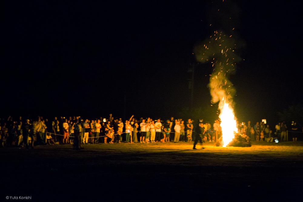たいまつ - 石川県能登島向田(こうだ)の火祭