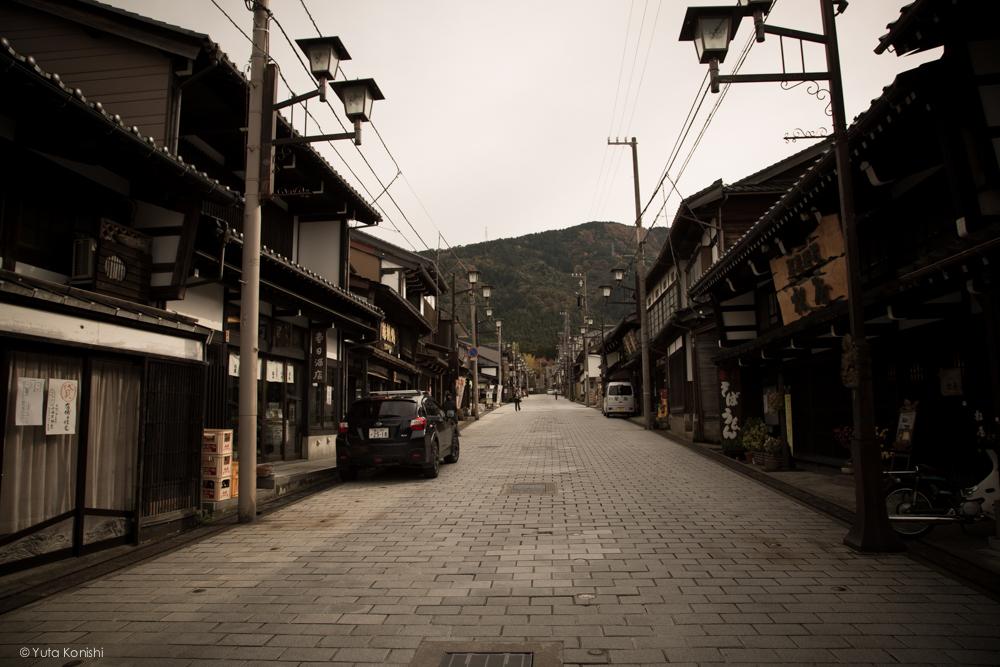 富山県南砺市井波の町並み