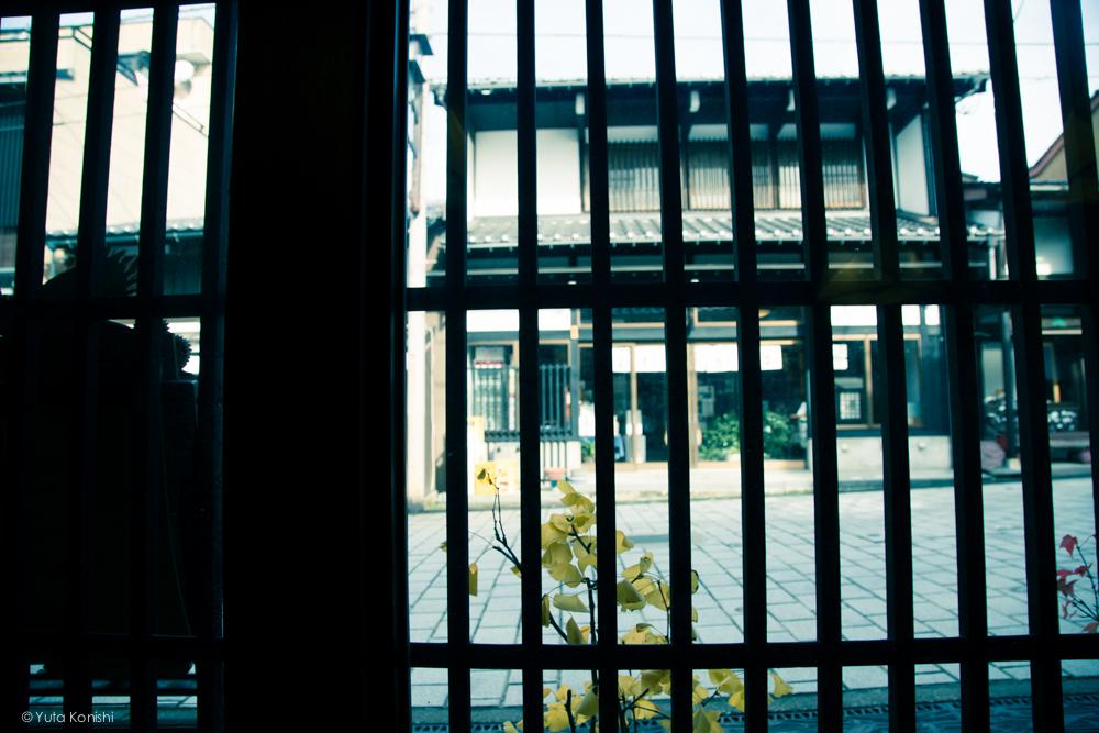 富山県南砺市井波 蕎麦懐石 松屋からの風景