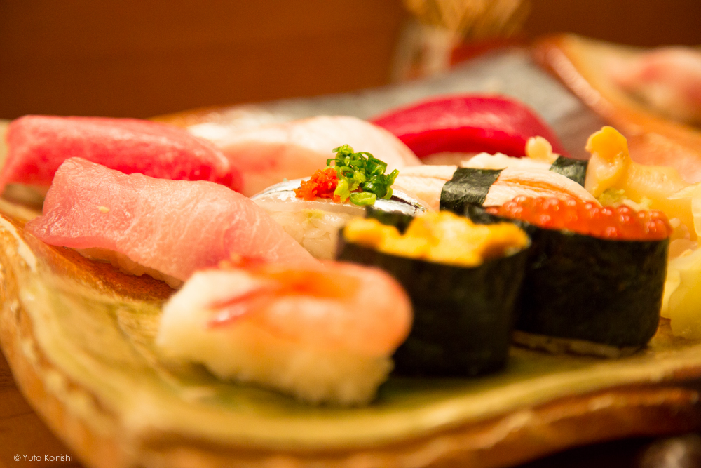 輪島の寿司屋 「伸福」地元寿司