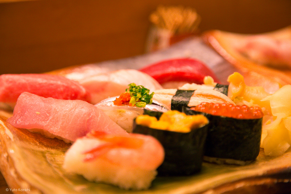 輪島の寿司屋 「伸福」地元寿司セット