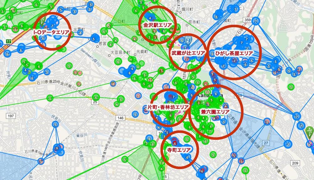 Ingress金沢マップ