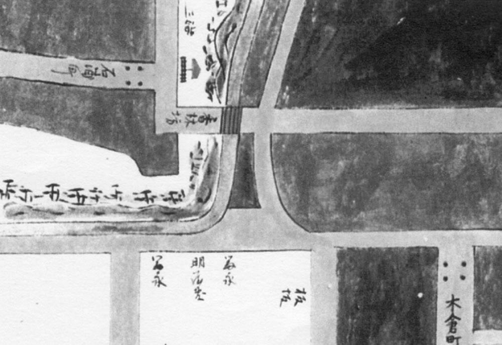「加陽金府武士町細見図」享保19年 1734年 (金沢市立玉川図書館蔵)