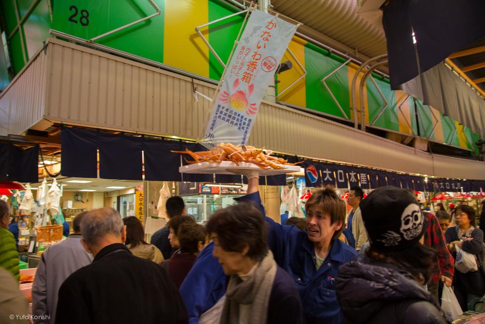 カニ!金沢グルメの王様「加能ガニ」11月上旬はカニ解禁で近江町市場の活気が最高潮!行くしか無いだろ!