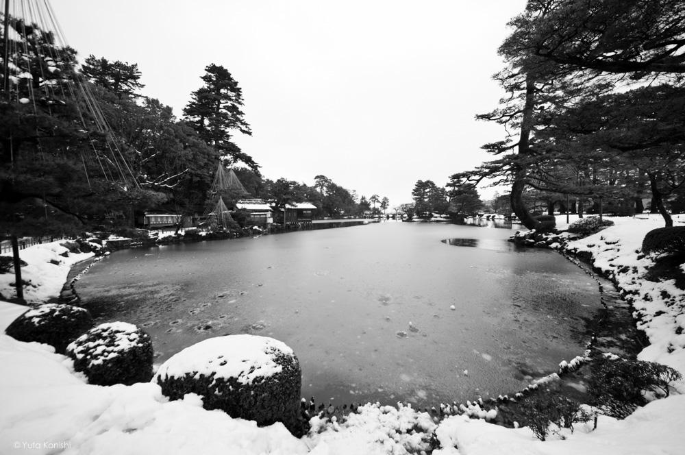 冬の兼六園