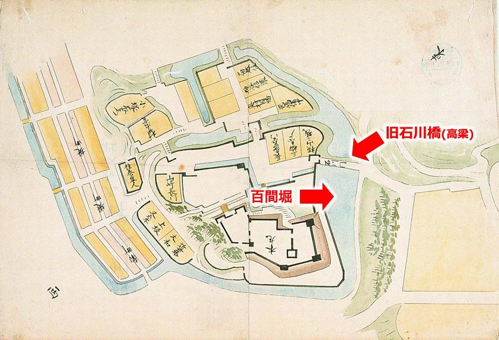 加州金沢城図(諸国居城之図集164枚の98)(金沢市立玉川図書館) 元禄5年(1692)