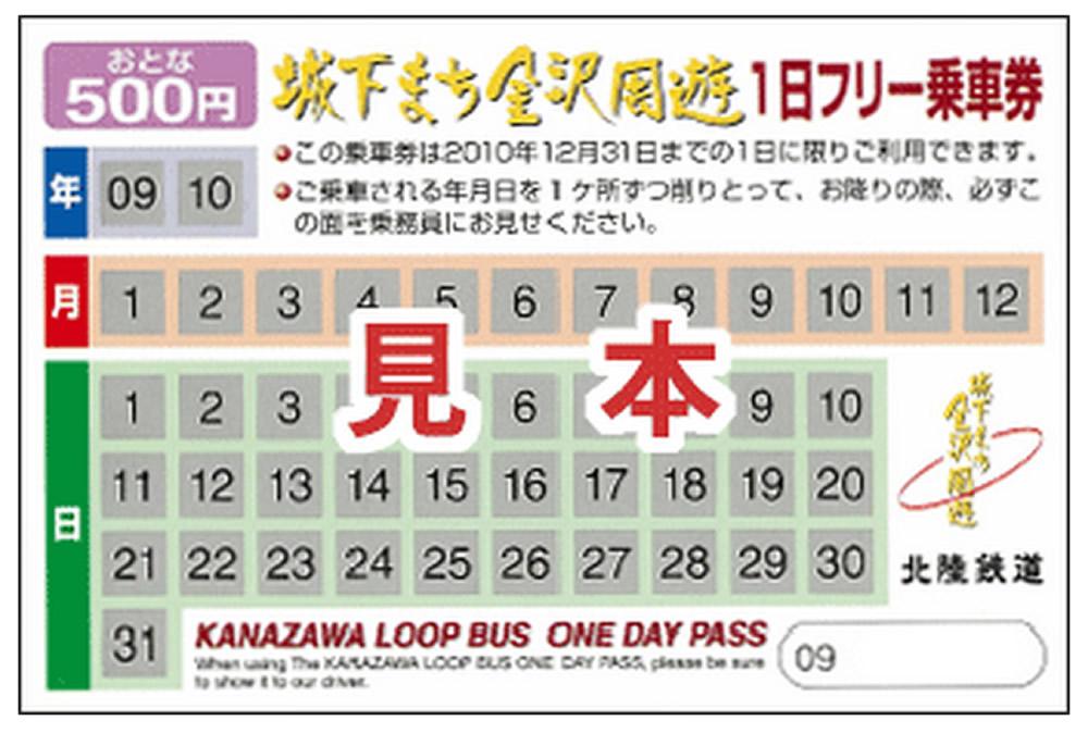 金沢周遊バスチケット