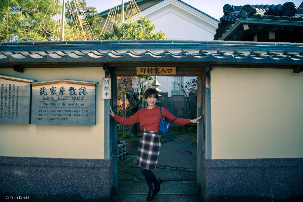 野村家入り口ゆりりん 金沢周遊バスで周る金沢観光マニュアル!金沢観光アイドル「ゆりりん」とバスで金沢を紹介します!