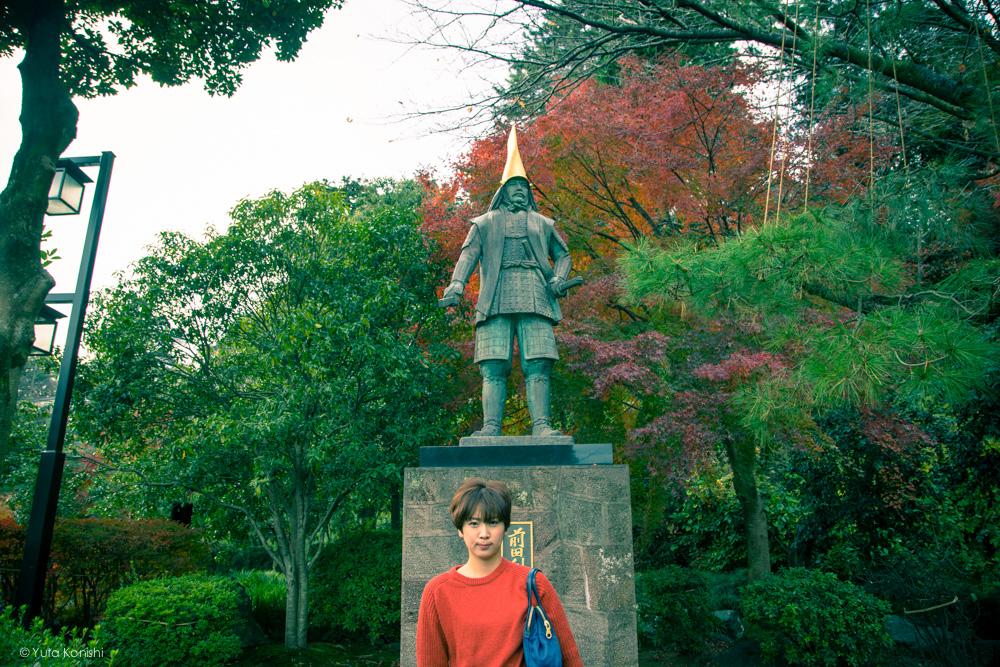 前田利家像ゆりりん 金沢周遊バスで周る金沢観光マニュアル!金沢の観光アイドル「ゆりりん」とバスで金沢を紹介します!