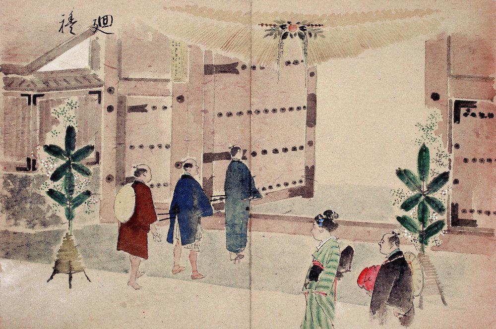 2015年1月15日ま2015年1月15日まで金沢城公園の橋爪一の門で「しめ飾り」取り付け!こんな地味な記事はWebマガジン向けではないだろ!で金沢城公園の橋爪一の門で「しめ飾り」取り付け!こんな地味な記事はWebマガジン向けではないだろ!