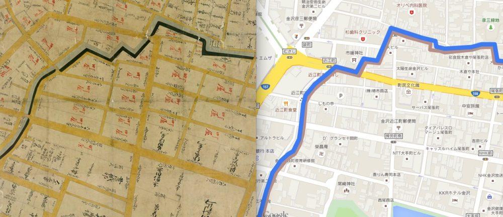 【金沢惣構VOL.1】金沢の歴史探訪の入り口「内惣構マップ現代版」をつくりました!これを持って歩けばブラタモリ金沢なんか楽勝っ!!