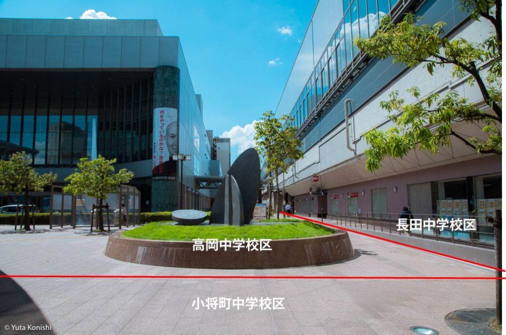 金沢駅前の写真 金沢市の中学校区が一瞬にして分かる!完全地元向け校区早わかりサービス