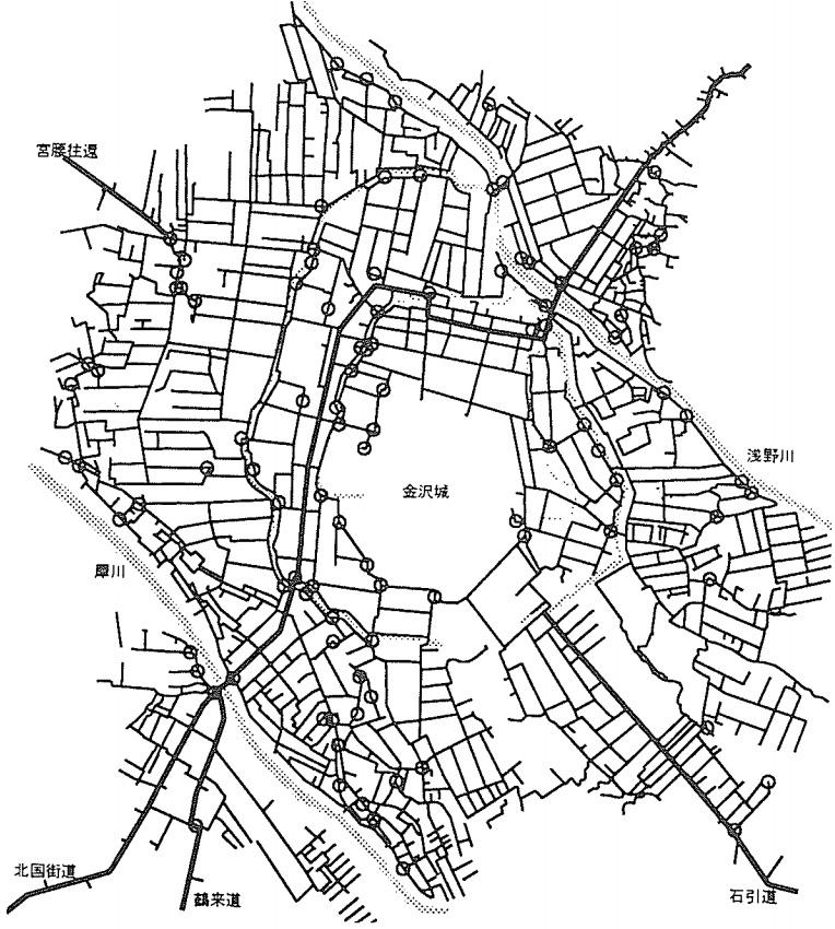 広見図「金沢城下の広見の起源と配置について」