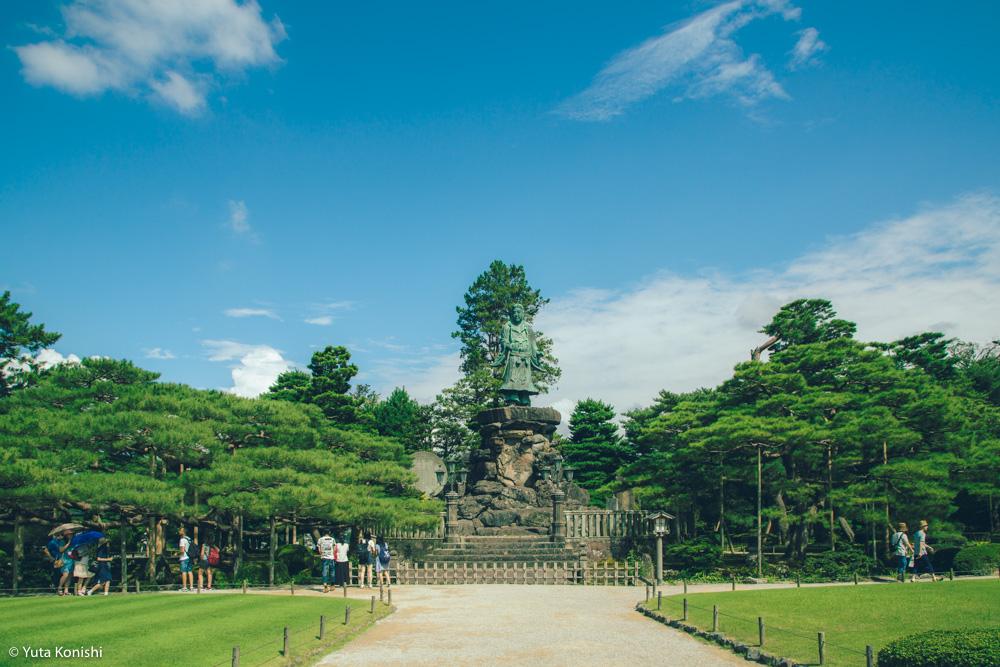 兼六園 ヤマトタケルノミコト像