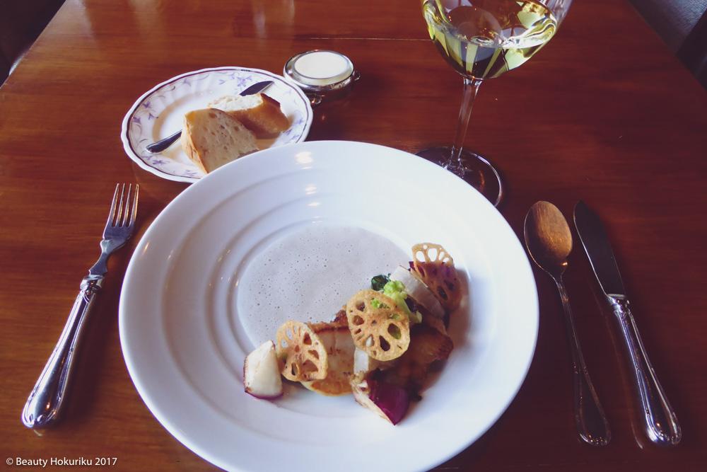 ラ・ネネグース 黒鯛とホタテ貝のポアレ